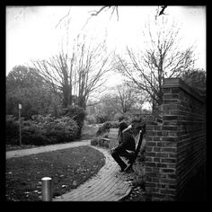 Have a smoke in the autumn fallen park.