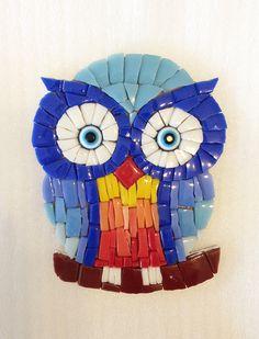 Mozaik baykuş, mosaic owl www.arassta.com