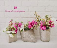 DIY: Concrete Shapes for Flowers! | Art And Chic
