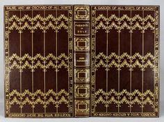 Pirages | Bindings - Bayntun-Riviere . Parkinson. Paradisi In Sole Paradisus Terrestris . 1629. 1904