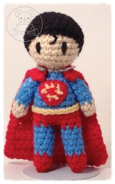Superman Dc Characters, Superman, Artisan, Teddy Bear, Dolls, Gallery, Crochet, Animals, Baby Dolls