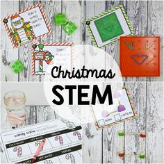 Christmas STEM Challenges! Step up your centers this holiday season with five motivatingChristmas STEM challenges- holiday geoboard shapes, gumdrop 2D shapes, LEGO Building Challenges, Candy Cane Science and Ornament Math! Perfect activities for holiday math centers, small groups or STEAM night with your little elves! #ChristmasSTEM #HolidayStem #theSTEMLaboratory #STEAMnight