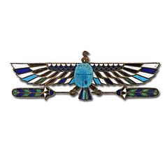Egyptian Revival Faience Scarab Pin. Not the best quality, but I like the style.