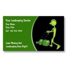 Lawn Care Service Business Card   Lawn care, Business and Lawn