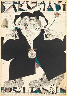 Horst Janssen, Hand Coloring, Vintage Posters, Illustrators, Graphic Art, Art Drawings, Auction, Artworks, Artists