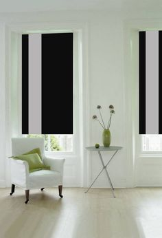 Single Margin Wool Blinds in Monochrome. These are the perfect way to channel the trend! Curtains With Blinds, Blinds For Windows, Blinds For Sale, Made To Measure Blinds, Soft Furnishings, Home Projects, Living Room Decor, New Homes, Window Coverings