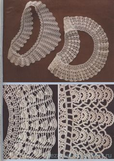 Gallery.ru / Фото #26 - Воротнички - nezabud-ka Crochet Lace Collar, Crochet Borders, Making 10, Thread Crochet, Crochet Fashion, Collar Necklace, Collars, Crochet Necklace, Projects To Try