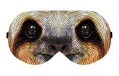 Sloth Sleeping Sleep Eye Eyes Mask Masks Night Blindfold cover shade patch Slumber Eyeshade Sleepmask Eyemask Travel Kit Accessory Present by venderstore on Etsy