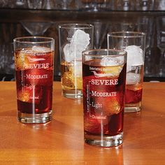Debriefing Assistant Glasses (Highball set of 4)