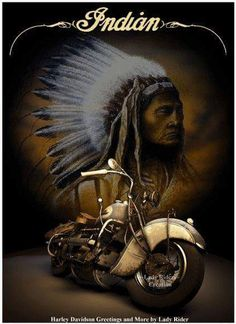 Vintage Indian Motorycle Poster