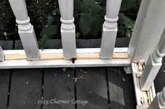 A Charming New Look - Exterior Repairs - My 1929 Charmer Porch Repair, Wood Siding, New Look, Exterior, Diy, Vintage, Wood Cladding, Bricolage, Wooden Panelling