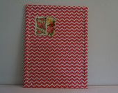 Cork board wrapped with coral chevron print to upgrade a functional stand by into a beautiful message board/cork board accented with crystal finishing push pins. approx Great for weddings, escort card holders, home and nursery!