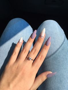 Matte and taupe nails Inspirational women - . - Matte and taupe nails Inspirational ladies - Almond Acrylic Nails, Summer Acrylic Nails, Best Acrylic Nails, Acrylic Nail Designs, Summer Nails, Matte Nail Art, Fall Nails, Short Almond Nails, Almond Nail Art