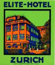 Vintage Luggage, Vintage Travel, Vintage Ads, Elite Hotels, Vintage Hotels, Luggage Labels, Steamer Trunk, Zurich, Travel Luggage