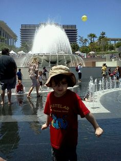 We don't need no stinkin' bathing suit. Grand Park Los Angeles