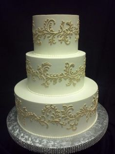 Top Scroll Wedding Cakes - Top Cakes - Cake Central