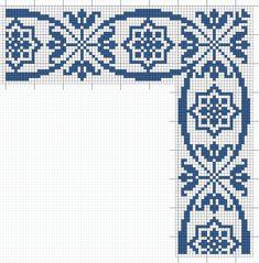 Cross Stitch Borders, Cross Stitch Rose, Cross Stitching, Cross Stitch Embroidery, Cross Stitch Patterns, Crochet Diagram, Filet Crochet, Hand Embroidery Design Patterns, Crochet Patterns