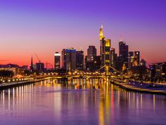 alemania nuevo Frankfurt skyline Mainhattan imán metal Souvenir Germany