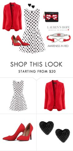 """""""Wear Red!"""" by marketing-lh on Polyvore featuring Betsey Johnson, Kate Spade, women's clothing, women, female, woman, misses and juniors"""