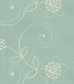 Upholstery Fabric-Waverly Candlewicking Classic/Mist