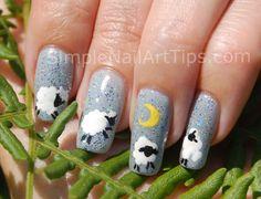 Lullaby Sheep Nail Art - Nail Art Gallery by NAILS Magazine