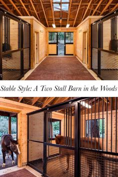 Two stall barn design Horse Stables, Horse Farms, Horse Shelter, Dream Stables, Small Horse Barns, Horse Barn Designs, Barn Layout, Barn Stalls, Horse Barn Plans