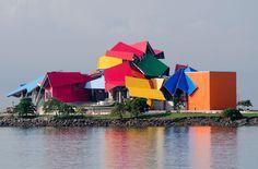 O belíssimo design do Biomuseu do Panamá por Gehry Frank