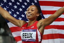 """035 Allyson Felix - American Track And Field Sprint Athlete 36""""x24"""" Poster"""