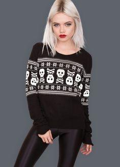 Bad To the Bone Skull Sweater