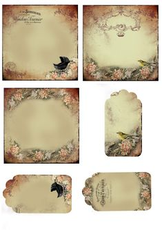 Astrid's Artistic Efforts: My Freebies.lots of amazing free printables Papel Vintage, Vintage Tags, Vintage Labels, Vintage Ephemera, Vintage Paper, Printable Labels, Printable Paper, Free Printables, Vintage Frames
