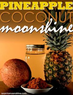 Tropical Pineapple Coconut Moonshine Recipe This tropical moonshine concoction really hits the spot on warm summer days. This coconut pineapple blend might make you crave the beach so put on your shorts put your feet up and enjoy a tall g Pineapple Moonshine Recipe, Homemade Moonshine, How To Make Moonshine, Apple Pie Moonshine, Moonshine Drink Recipes, Peach Moonshine, Making Moonshine, Recipes, Drink Recipes