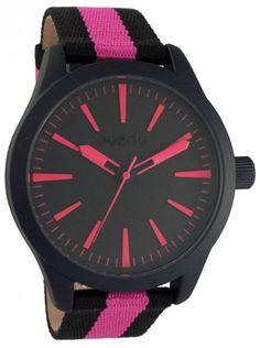 http://kloxx.gr/brands/brands-oozoo/oozoo-timepieces-black-fucshia-fabric-strap-c6729