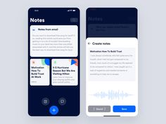 Audio Notes designed by Johny vino™. Connect with them on Dribbble; Mobile Application Design, Mobile App Design, Mobile Ui, Ios 7 Design, Design Design, Logo Design, Graphic Design, Ios Notes, Twitter Design