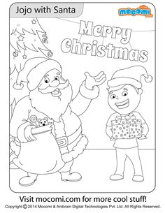 jojo with santa online jojo colouring page for kids free printable coloring pages for a variety of themes that you can print out and color at home