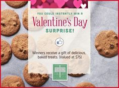 Tate's Valentine's Day Instant Win Game WIN a delicious, gluten fee Valentine's Day gift from Tate's Bake Shop! Enter DAILY-Ends 2/14