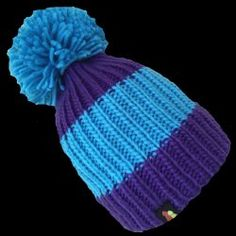 822c8c41e40 Chilly Willy - Blue   Purple Bobble Hat