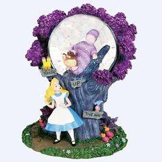 Disney Alice in Wonderland Snow Globe Walt Disney, Disney Love, Disney Magic, Disney Snowglobes, Disney Movies To Watch, Disney Rooms, Water Globes, Christmas Snow Globes, Disney Figurines