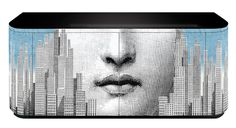 fornasetti: face and stripes + fogliolina buffet