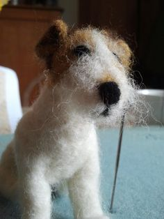 needle felted terrier - Sew Recycled