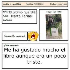 Julián ha leído un libro cuya historia transcurre en España.