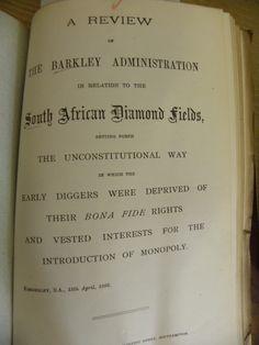 British interest in South African Diamond fields