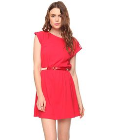 ANOTHER red dress! This has cute sleeves
