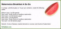 Watermelon Breakfast A Go Go Recipe Card