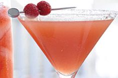 Razzmopolitan recipe.    Add vodka for an adult drink.