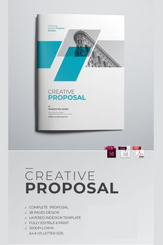 Corporate Business Project ProposalTemplate is editable text, logo, colour & resizable/scalable vector based designed in Adobe IndesignIt's fully editable, Magazine Design, Magazine Ideas, Indesign Templates, Brochure Template, Page Design, Cover Design, Corporate Design, Corporate Identity, Proposal Photos