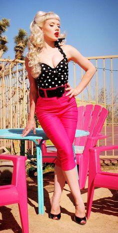 Deadly Dame Capri Pants