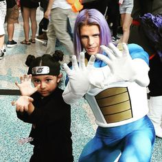 Little kids have more fun when big kids play too. @julianjaye says 'The Warrior Shall know power and Preparedness The Warrior Shall Know PEACE' Showing Love and Cosplay power over 9000 with incredible lil Tenten @jayden_nicole0804  DAY 1 at ANIME EXPO @animeexpo  #animeexpo #trunks #futuretrunks #dbzlife #cosplaycorp #dragonballz #photooftheday #cosplay #cosplayersofinstagram #cosplayers #naruto #tenten #sonofvegeta #over9000 #saiyan #cellsaga #cosplaycorp #shapeshifterz #instacool…