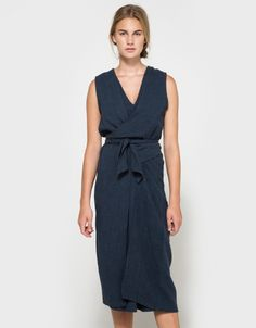 Tie Dress in Navy
