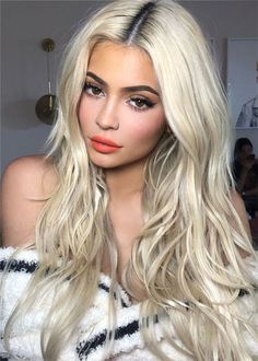 Women's 613 Blonde Color Long Length Natural Straight Mid Part Human Hair Wigs Rose Lace Front Wigs Platinum Wigs, Platinum Blonde Hair, Blonde Wig, Blonde Balayage, Blonde Highlights, Blonde Color, Ashy Blonde, Blonde Hair Makeup, Blonde Ombre
