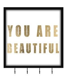 Loving this 'You Are Beautiful' Four-Hook Keepsake Box on #zulily! #zulilyfinds